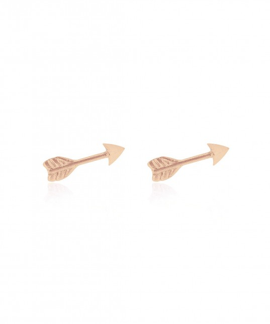 Arrow Stud Earrings Rose