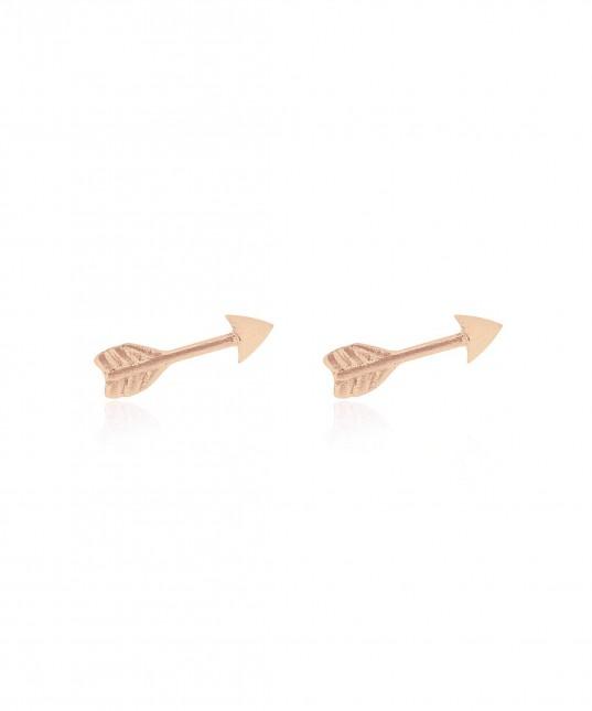 Arrow Stud Earrings Rose
