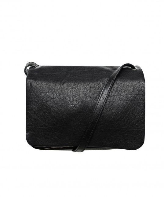 Cody Leather Shoulder Bag Black