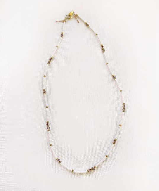 Crystal Necklace White