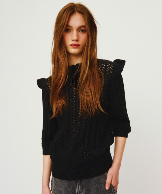 Kira Short Sleeve Pullover Black