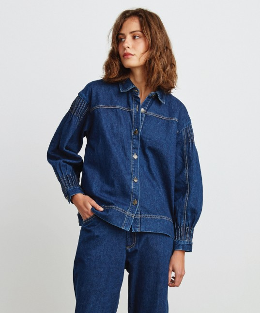 Bobbi Denim Shirt/Jacket Deep Blue