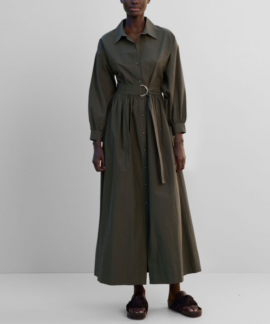 Dylan Long Sleeve Dress Forest