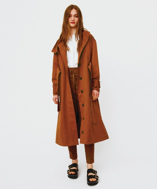 Emmerson Trench Coat Rust