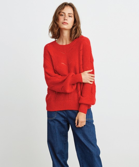 Jeanne Pullover Red