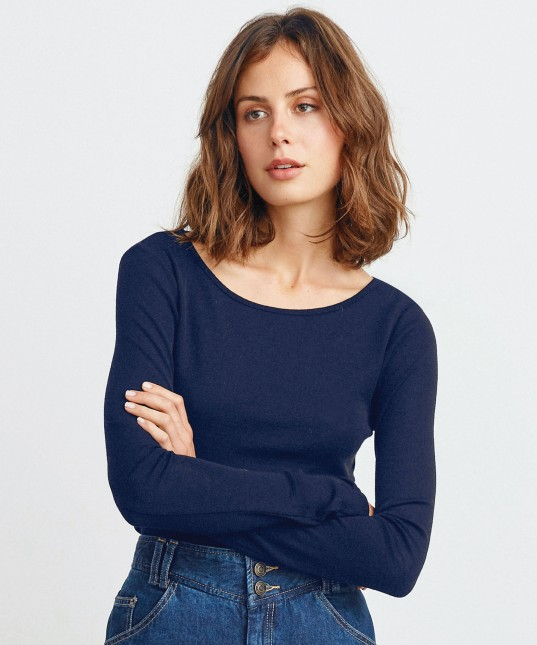 Morri Wool Round Neck Navy