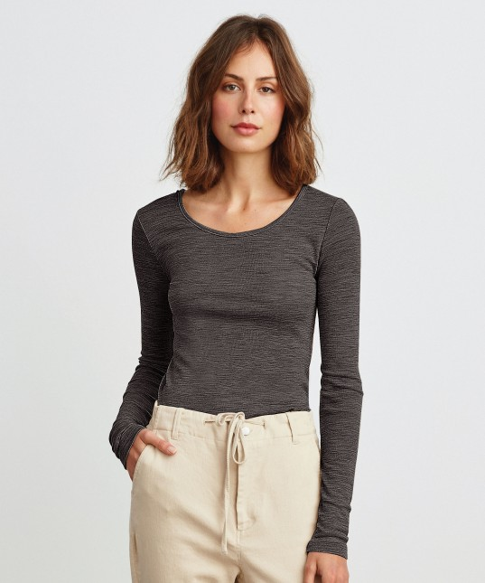 Morri Wool Scoop Neck Charcoal