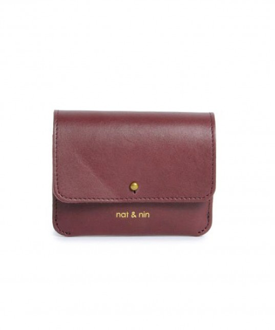 Lumi Leather Purse Burgundy