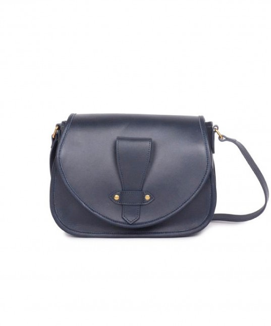Margaux Leather Bag Navy