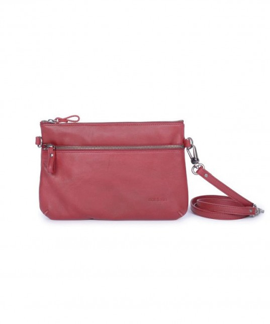 Vicky Leather Bag Cherry