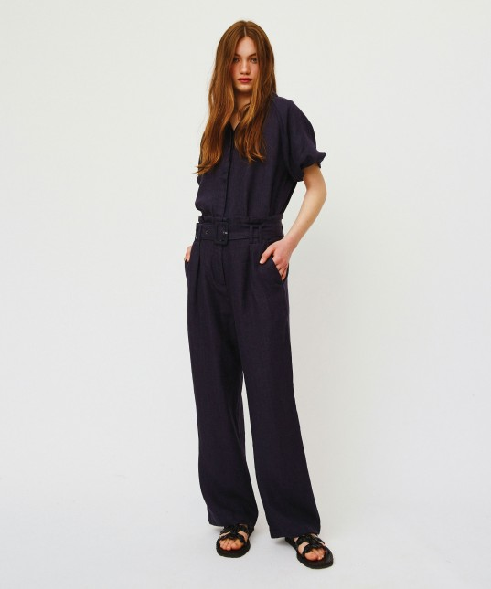 Arlow Linen Pant Black