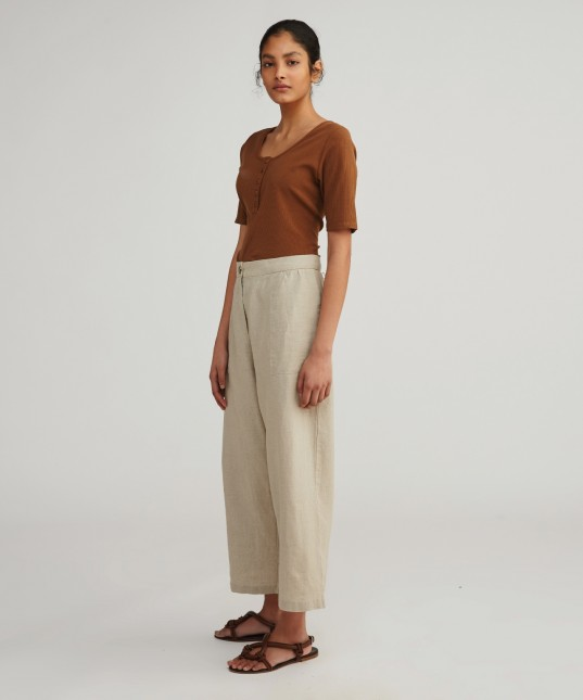 Carrie Linen Culotte Natural