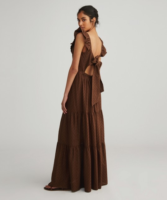 Coraline Maxi Dress Chocolate
