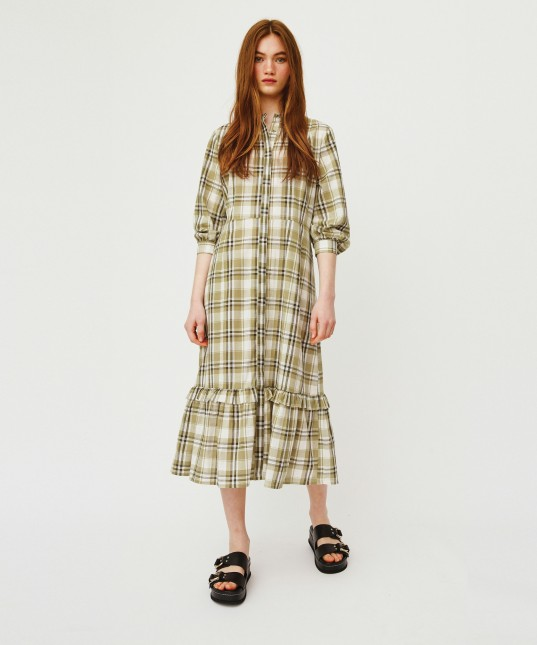 Dolly Dress Olive Check