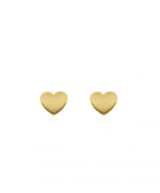 Itsy Bitsy Heart Studs 9k Gold