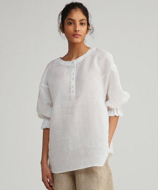 Janey Linen Shirt White