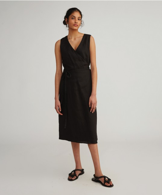 Jilly Wrap Dress Black