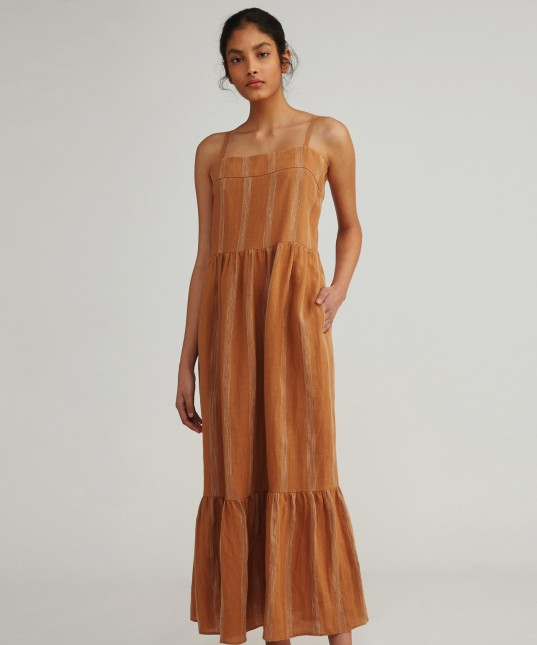 Leilani Linen Maxi Dress Hazel