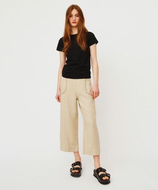 Marilyn Linen Culotte Natural