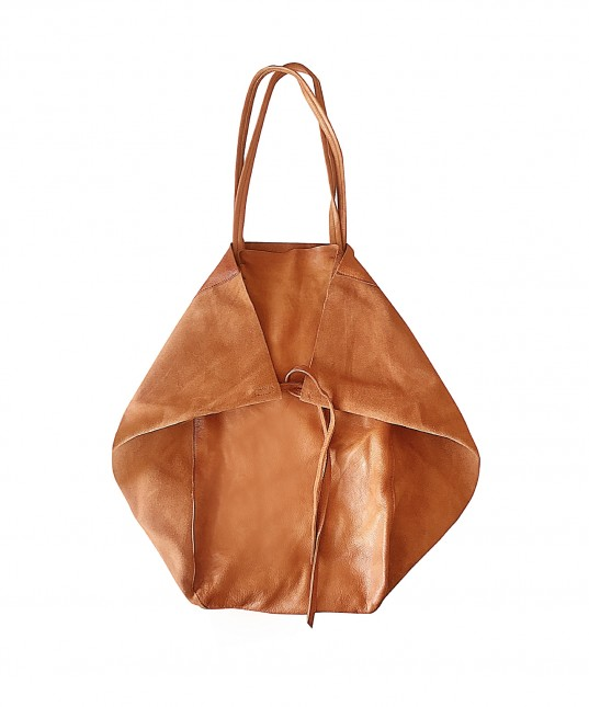 Monti Leather Bag Cognac