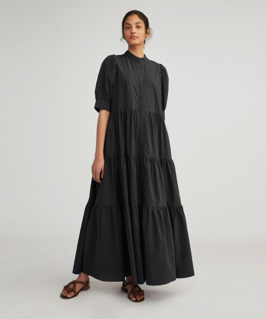 Nyle Shirt Dress Black
