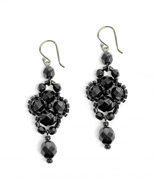 Pimelia Earrings Black