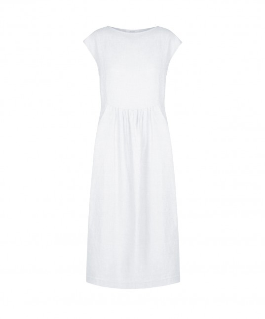 Arlo Linen Dress White