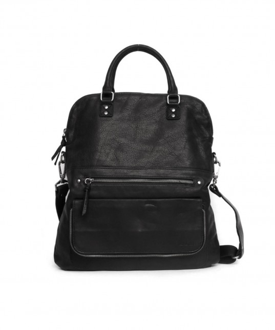 Carrie Leather Bag Black
