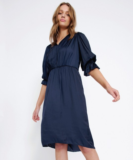 Jordy Dress Poet Navy