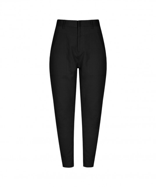Chiara Drop Crotch Pant Black