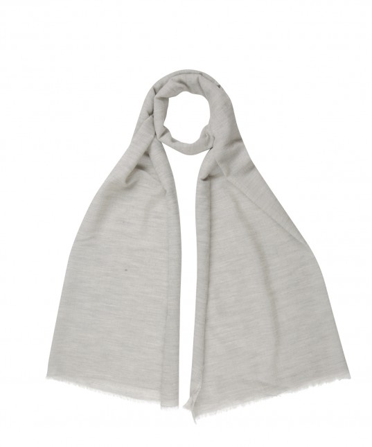Jeremiah Wool Scarf Light Grey