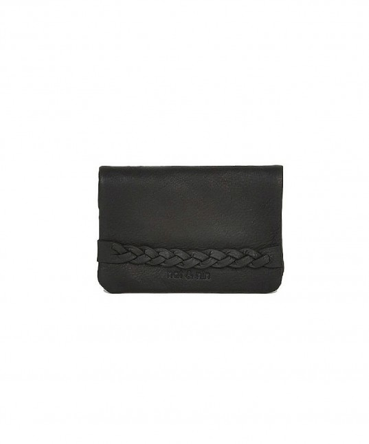Lilou Leather Wallet Black