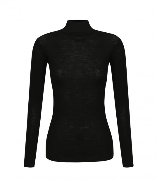 Morri Wool High Neck Black