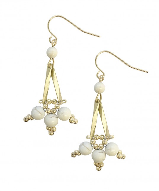 Rila Earrings Gold White