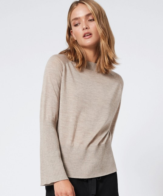 Rory Wool Pullover Stone