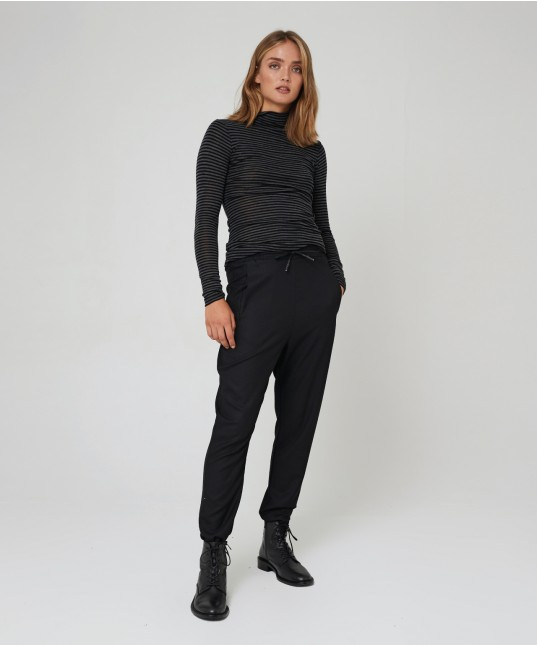 Zuri Drop Crotch Pant Black