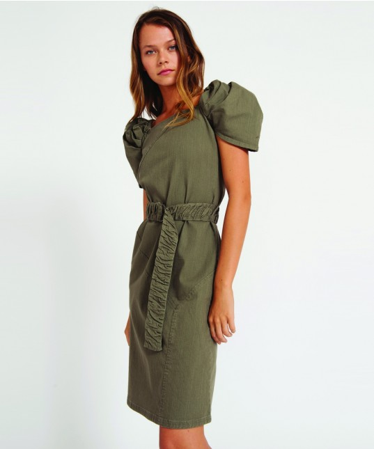 Fletcher Denim Dress Khaki