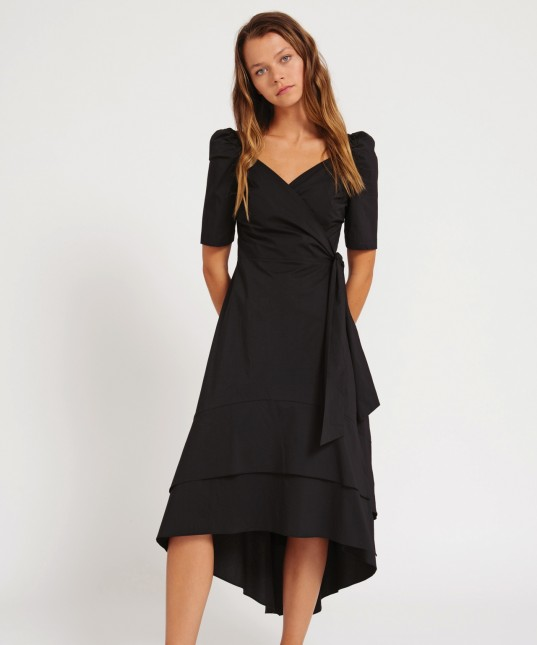 Neo Wrap Dress Black