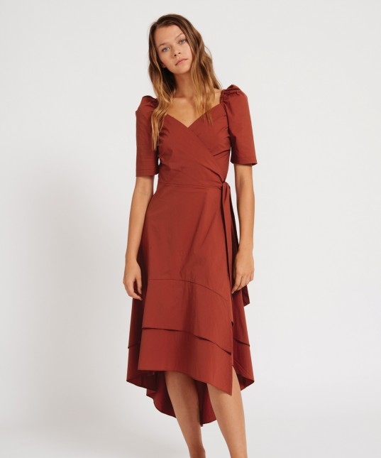 Neo Wrap Dress Plum