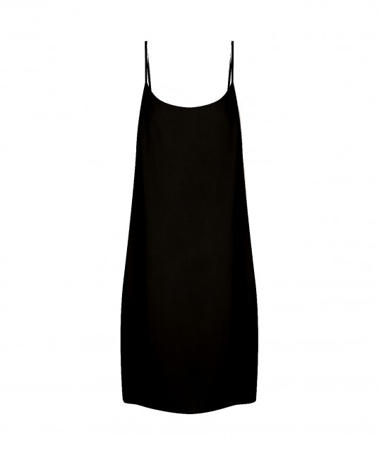 Oden Slip Dress Black