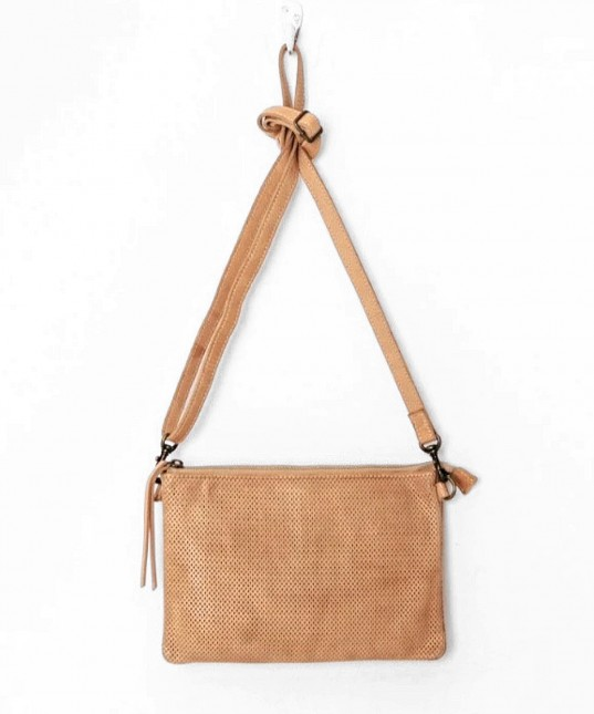 Perforated Leather Shoulder Natural