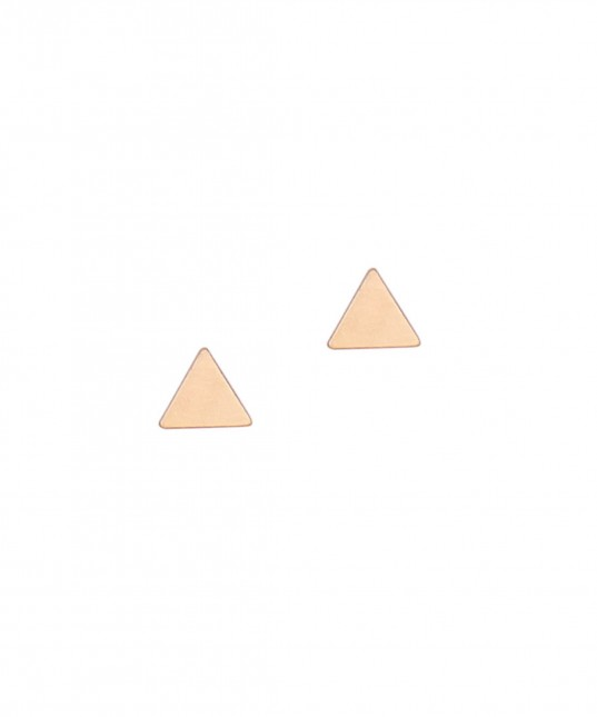 Triangle Stud Earring Gold