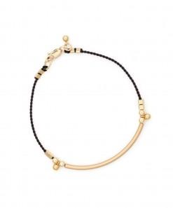 Bar Cord Bracelet Black