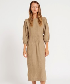 Alix Linen Dress Safari