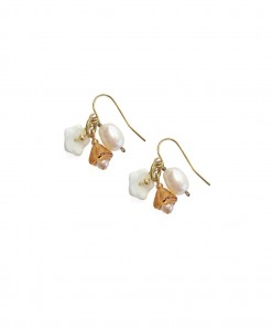 Andes Earrings Amber White