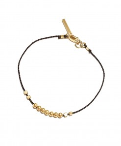 Bead Bracelet Gold Black