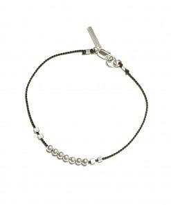 Bead Bracelet Silver Black