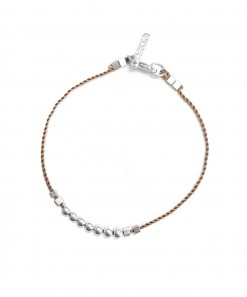 Bead Bracelet Silver Taupe