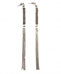 Braid Tassel Earring Silver