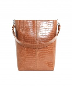 Casset Vegan Crocodile Leather Matte Bag Ginger Bread